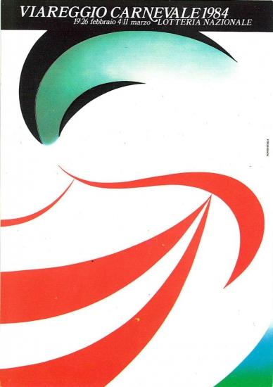 Manifesto ufficiale Carnevale di Viareggio 1984