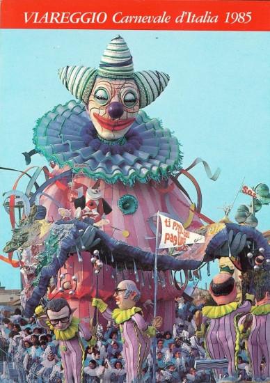 Manifesto ufficiale Carnevale di Viareggio 1985