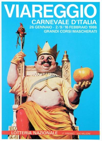 Manifesto ufficiale Carnevale di Viareggio 1986