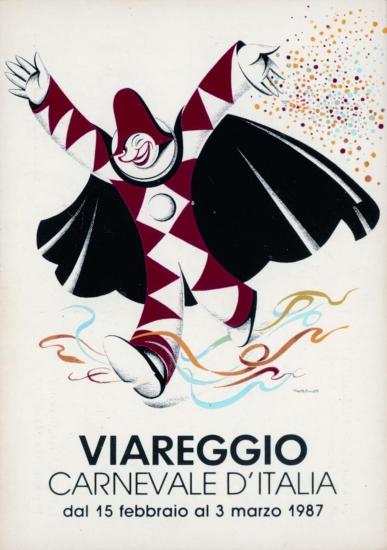 Manifesto ufficiale Carnevale di Viareggio 1987
