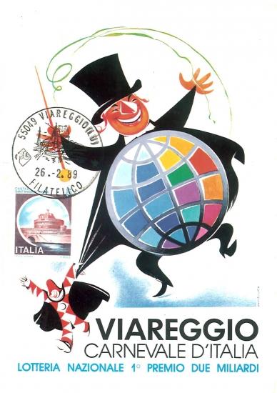 Manifesto ufficiale Carnevale di Viareggio 1989