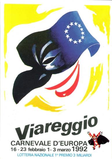 Manifesto ufficiale Carnevale di Viareggio 1992