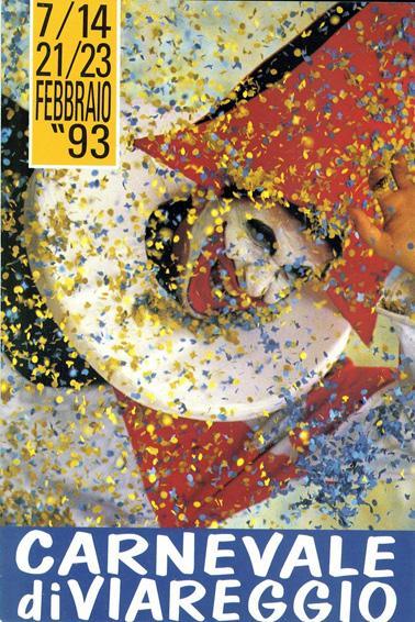 Manifesto ufficiale Carnevale di Viareggio 1993