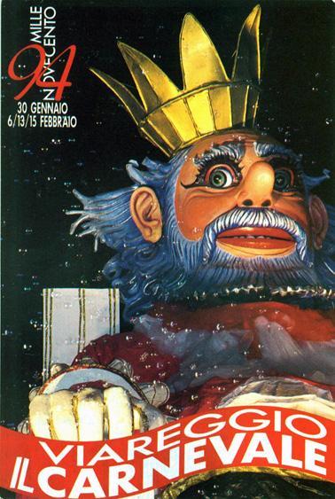 Manifesto ufficiale Carnevale di Viareggio 1994
