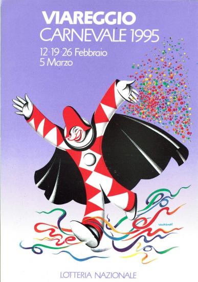 Manifesto ufficiale Carnevale di Viareggio 1995