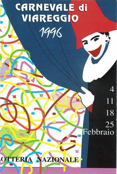 Manifesto ufficiale Carnevale di Viareggio 1996