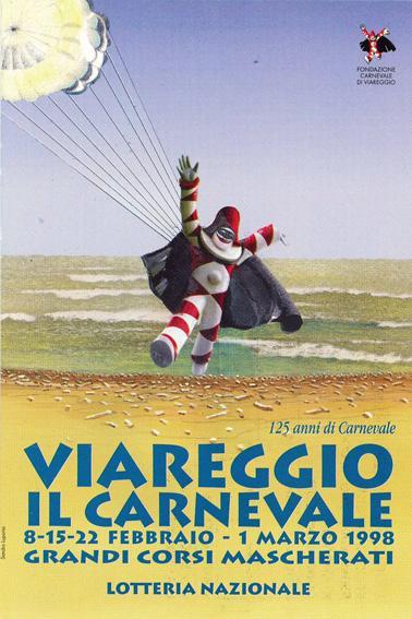 Manifesto ufficiale Carnevale di Viareggio 1998