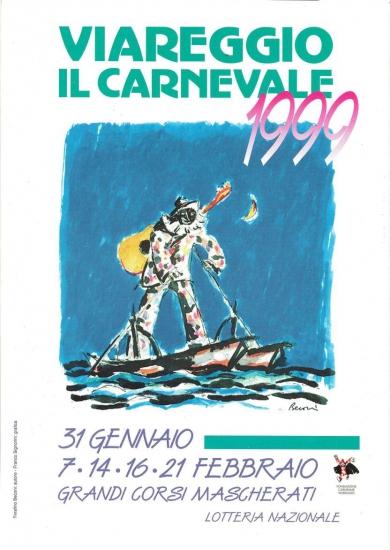 Manifesto ufficiale Carnevale di Viareggio 1999