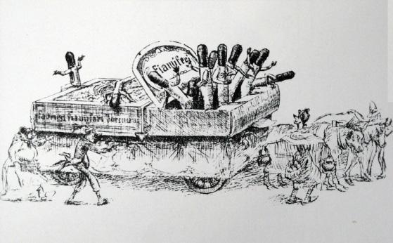 Il trionfo dei fiammiferi di F.lli Landucci - Carri piccoli - Carnevale di Viareggio 1885