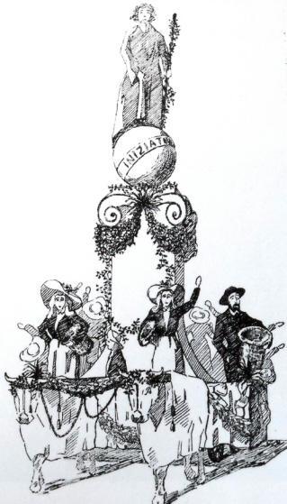 Iniziativa di S.M. il Re per Istituto Internazionale Agricoltura di Raffaello Tolomei - Carri piccoli - Carnevale di Viareggio 1905