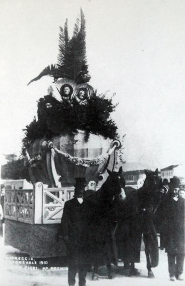 La coppa dei fiori di Pietro Tofanelli - Carri piccoli - Carnevale di Viareggio 1910