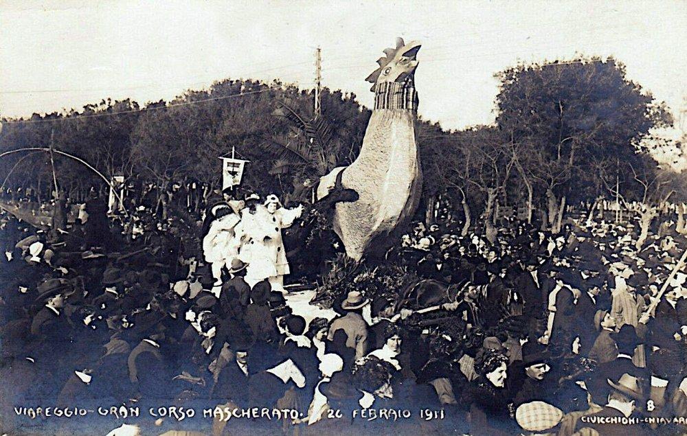 Il gallo ovvero vita nuova di  - Carri piccoli - Carnevale di Viareggio 1911