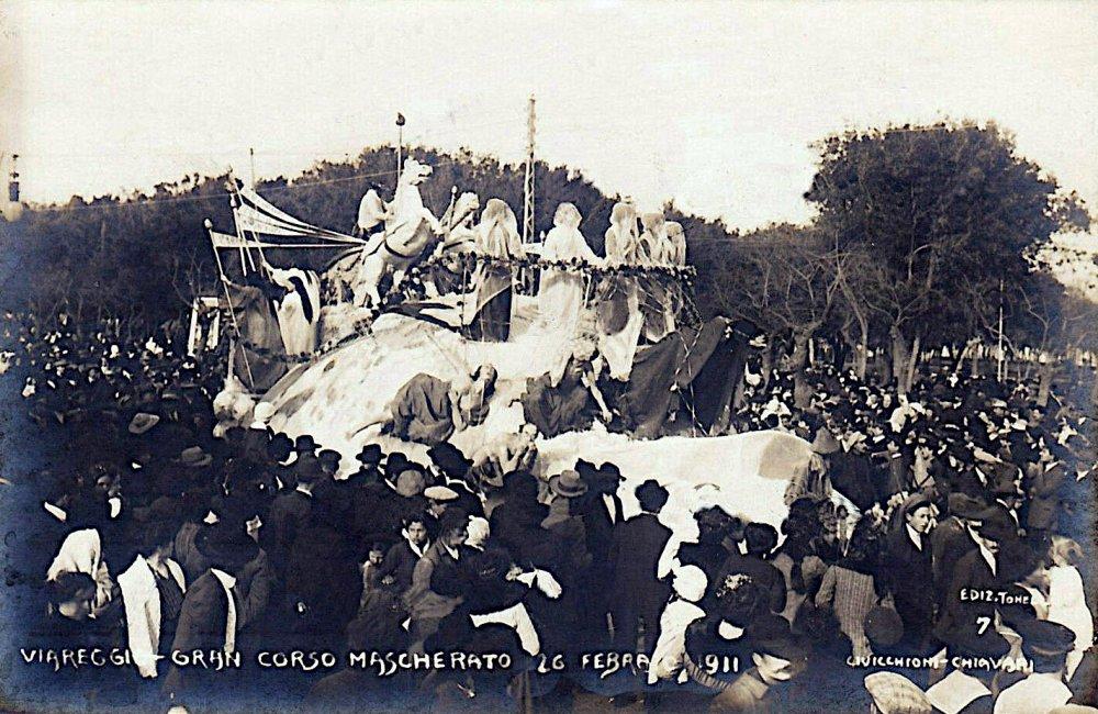 Il trionfo del progresso di Guido Baroni - Carri piccoli - Carnevale di Viareggio 1911
