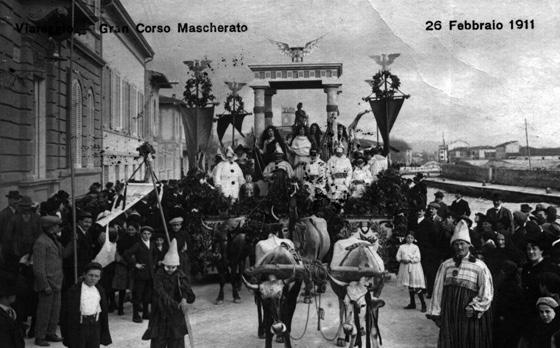Il trionfo della vita di Domenico Ghiselli - Carri piccoli - Carnevale di Viareggio 1911