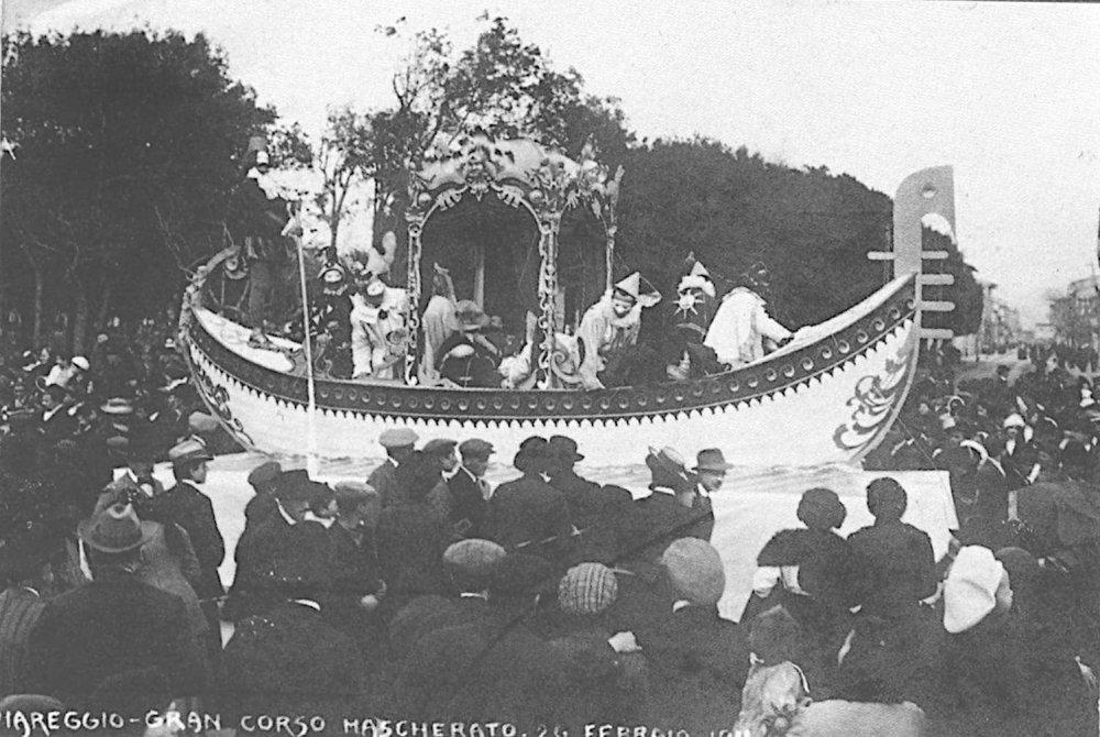 La gondola veneziana di Teodosio Morescalchi - Carri piccoli - Carnevale di Viareggio 1911