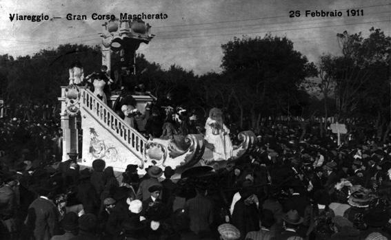 Le tentazioni di Satana di Alfredo Fontanini - Carri piccoli - Carnevale di Viareggio 1911