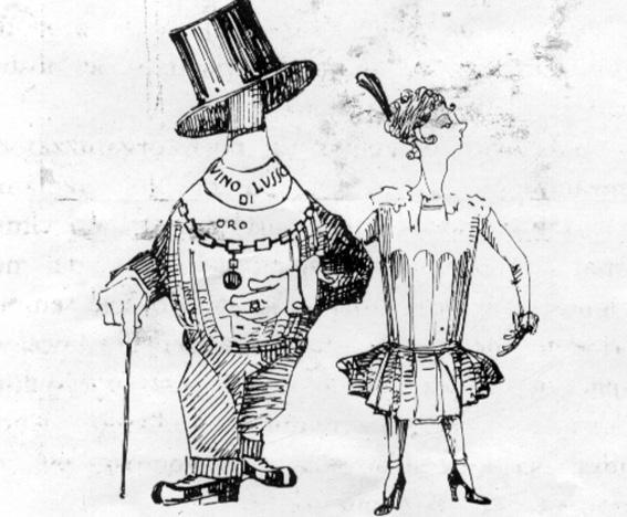 Bevi te che bevo io di  - Mascherate di Gruppo - Carnevale di Viareggio 1923