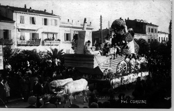 La balia delle maschere di Leandro Balena - Carri grandi - Carnevale di Viareggio 1923