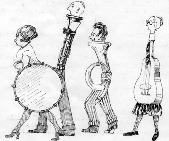 Maschere musicali di  - Mascherate di Gruppo - Carnevale di Viareggio 1923