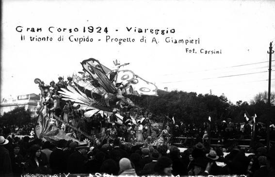 Cupido a Viareggio di A. Giampieri - Carri grandi - Carnevale di Viareggio 1924