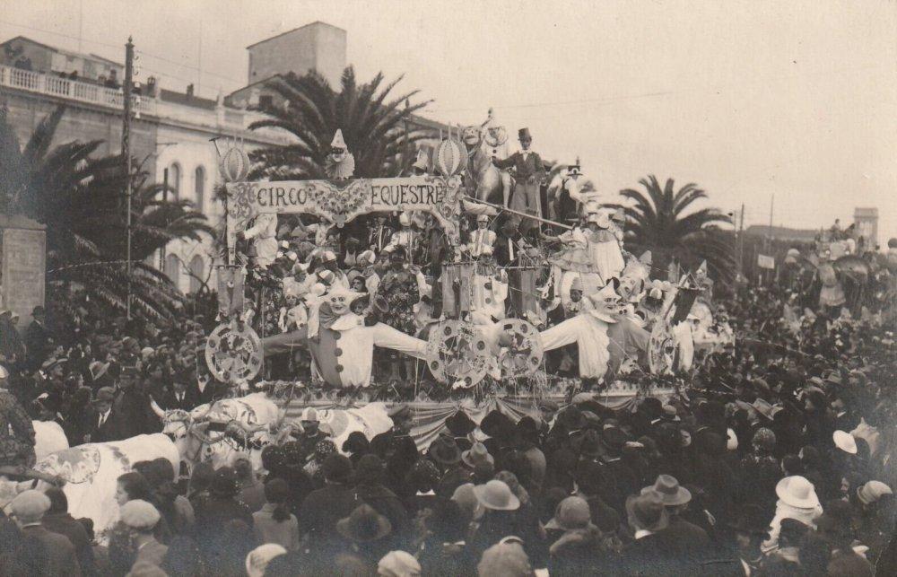Il circo equestre di Guido Baroni - Carri grandi - Carnevale di Viareggio 1924