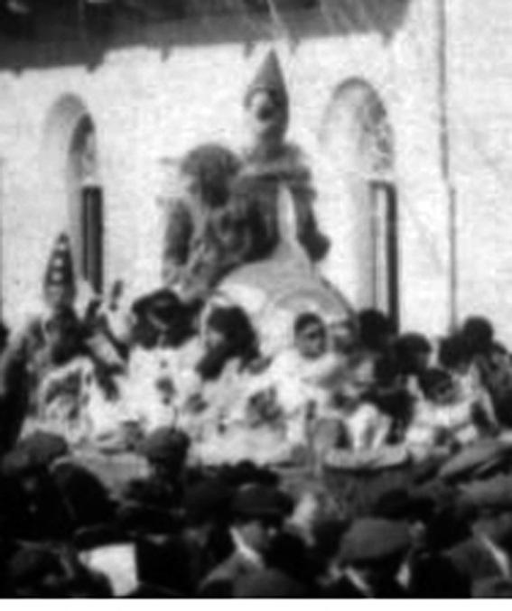 La fuga di Pinocchio e Geppetto di Gino Martinelli - Carri piccoli - Carnevale di Viareggio 1924