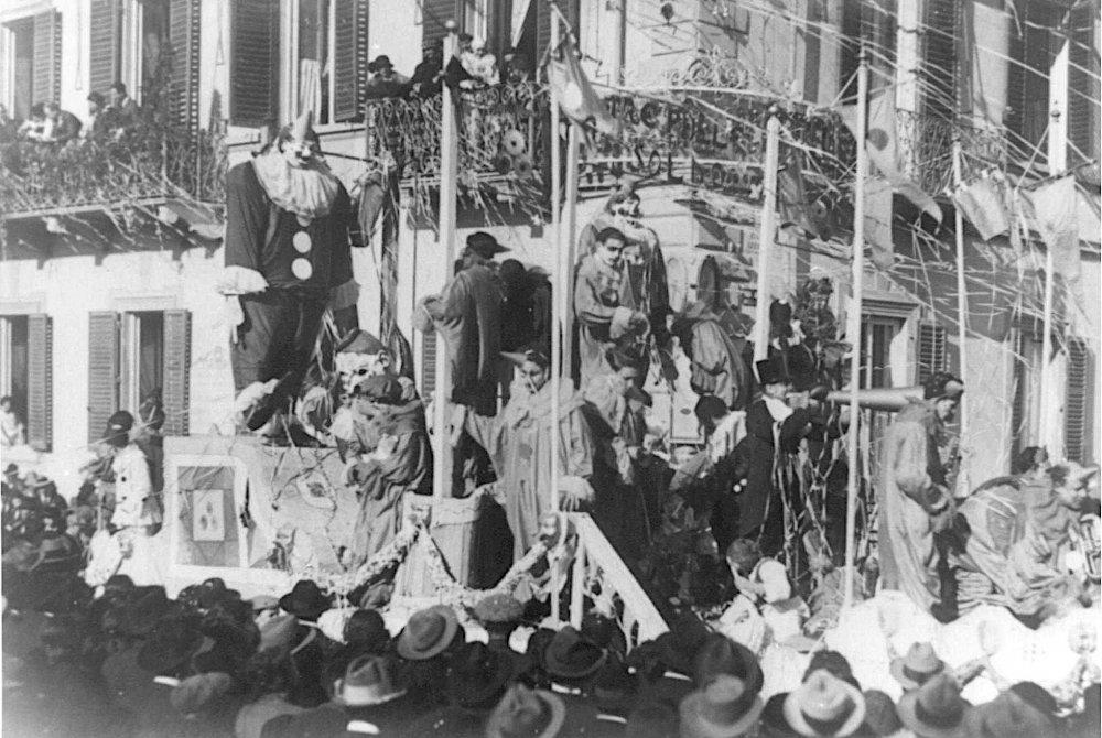Tre palle un soldo di Mario Tofanelli - Carri grandi - Carnevale di Viareggio 1924