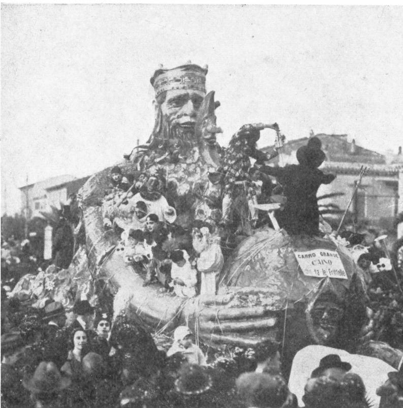Caino che fa le frittelle di Giuseppe Venturini e Giulio Bellotti - Carri grandi - Carnevale di Viareggio 1925