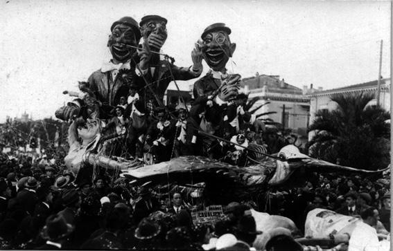 I cavalieri del carnevale di Antonio D'Arliano - Carri grandi - Carnevale di Viareggio 1925