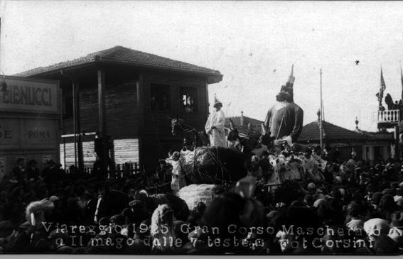 Il mago dalle sette teste di Guglielmo Reggiani - Carri grandi - Carnevale di Viareggio 1925