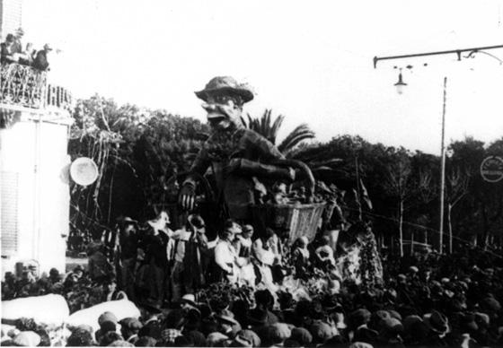 Il montanaro che porta doni al carnevale di Paolino Vetulio e Carlo Convalle - Carri grandi - Carnevale di Viareggio 1925