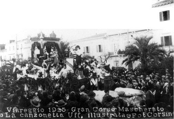 La canzonetta ufficiale illustrata di Paolino Benedetti - Carri piccoli - Carnevale di Viareggio 1925