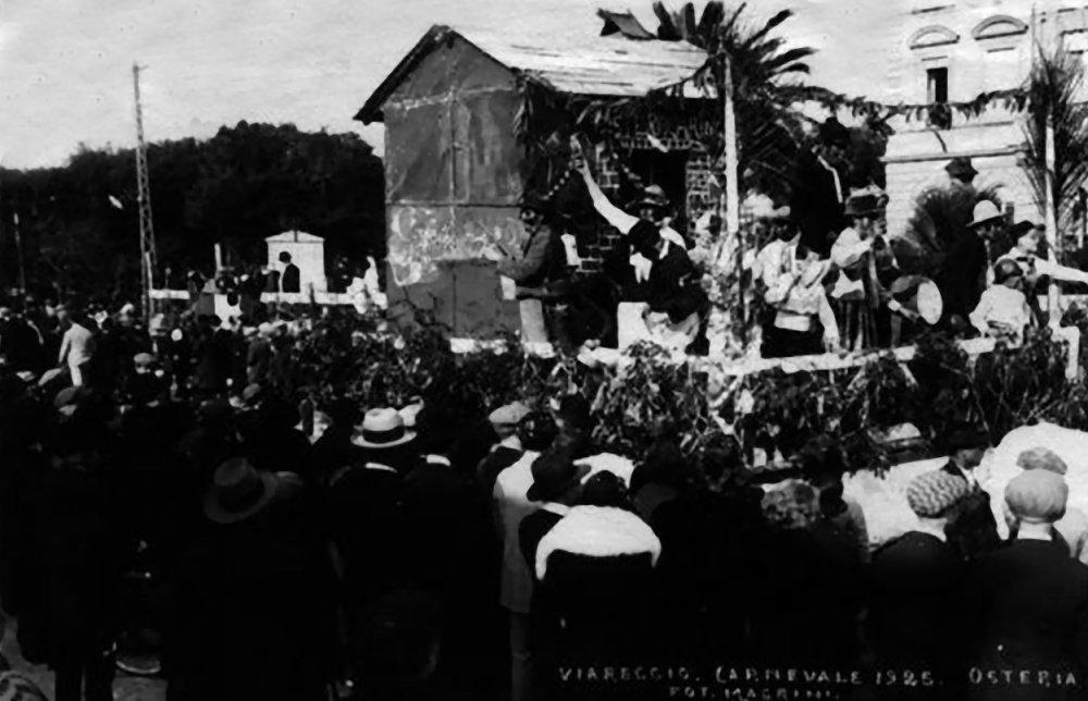 Osteria l aringa di Bisio Gori - Carri piccoli - Carnevale di Viareggio 1925