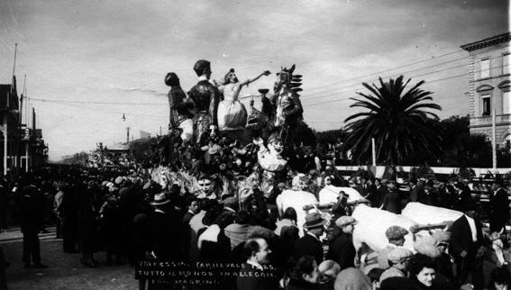 Tutto il mondo in allegria di Paolino Benedetti - Carri grandi - Carnevale di Viareggio 1925