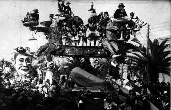 Viareggio in maschera di Raffaello Tolomei - Carri grandi - Carnevale di Viareggio 1925