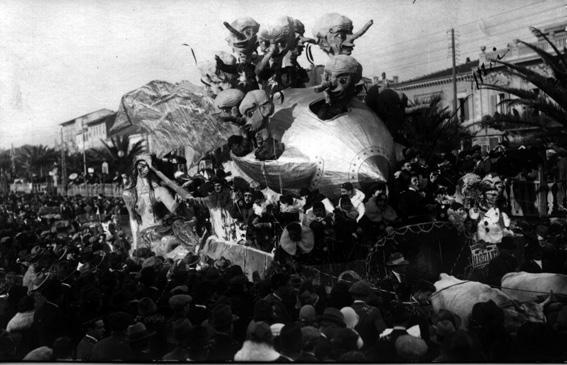 Gli abitanti di Marte o i marziani di Alfredo Morescalchi - Carri grandi - Carnevale di Viareggio 1926