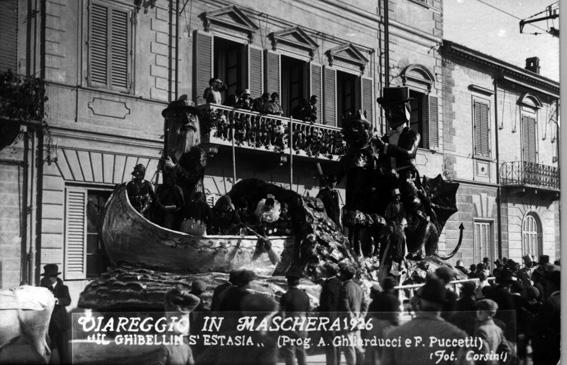Il ghibellin si estasia di A. Ghilarducci e Fulvio Puccetti - Carri grandi - Carnevale di Viareggio 1926