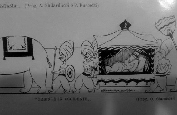 Oriente in Occidente di O. Giannessi - Mascherate di Gruppo - Carnevale di Viareggio 1926