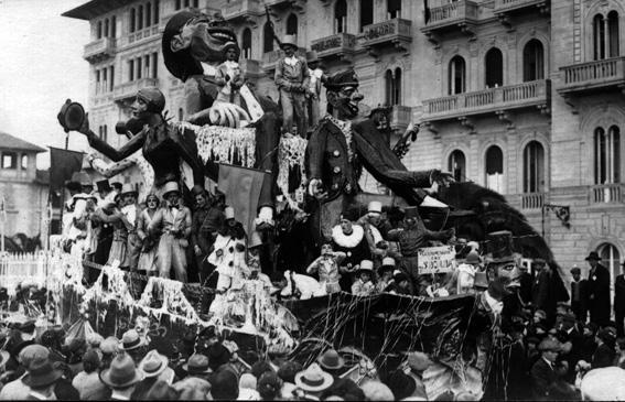 Che sbornia di Mario Scotennazza - Carri grandi - Carnevale di Viareggio 1927