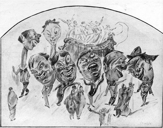 I buontemponi di A. Balestri - Mascherate di Gruppo - Carnevale di Viareggio 1927