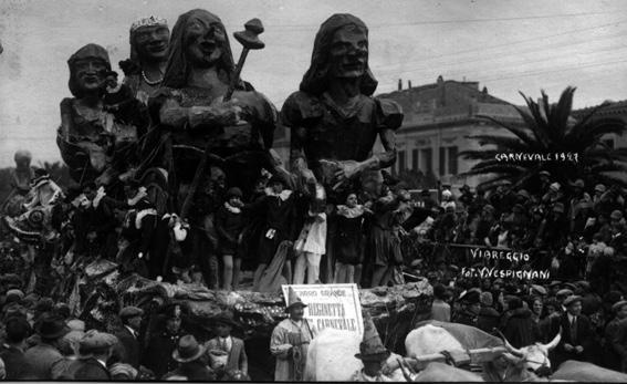 La reginetta del carnevale di Eugenio Poletti - Carri grandi - Carnevale di Viareggio 1927