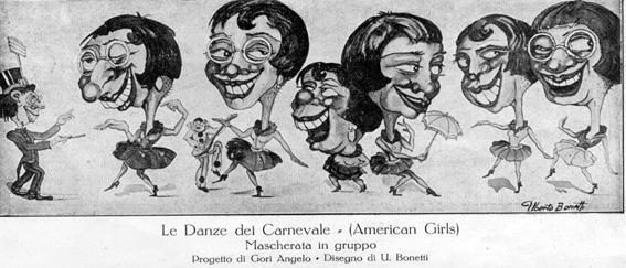 Le danze al carnevale di Angelo Gori - Mascherate di Gruppo - Carnevale di Viareggio 1927
