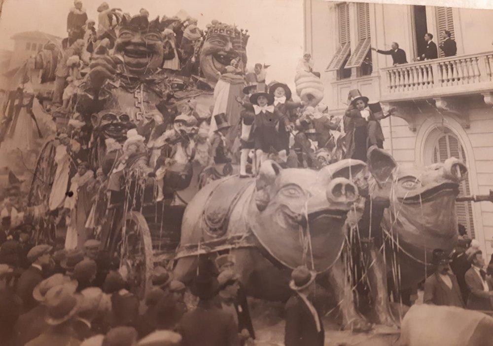 L'ultima pazzia del carnevale di Alfredo Pardini - Carri grandi - Carnevale di Viareggio 1927