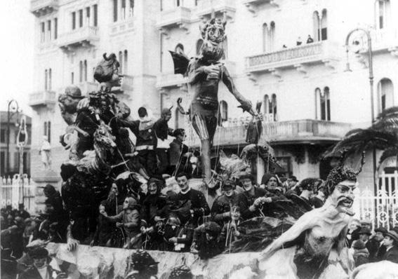 Plutone e Proserpina di Manfredi - Carri piccoli - Carnevale di Viareggio 1927