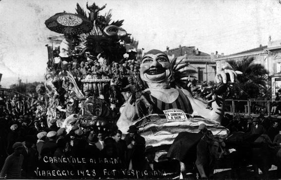 Carnevale ai bagni di Alfredo e Michele Pardini - Carri grandi - Carnevale di Viareggio 1928