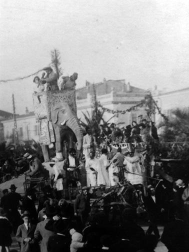 Cavalieri del sogno di A. Antongiovanni - Cavalcate - Carnevale di Viareggio 1928