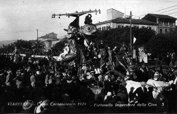 Fortunello imperatore di Michelangelo Marcucci - Carri piccoli - Carnevale di Viareggio 1928