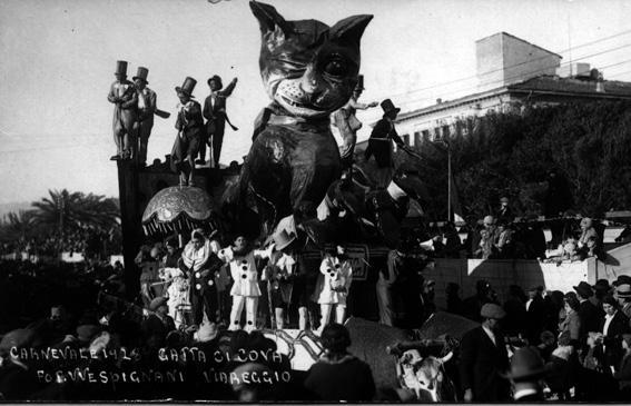 Gatta ci cova di Alfredo e Michele Pardini - Carri piccoli - Carnevale di Viareggio 1928
