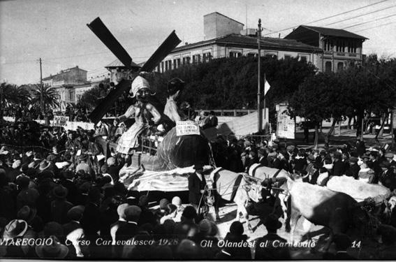 Gli olandesi al carnevale di G. Larcucci - Carri piccoli - Carnevale di Viareggio 1928