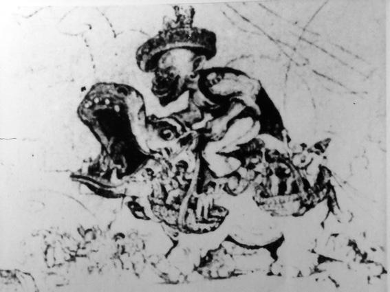 Il regalo di Re Kutterniff di Mario Pezzini - Carri grandi - Carnevale di Viareggio 1928